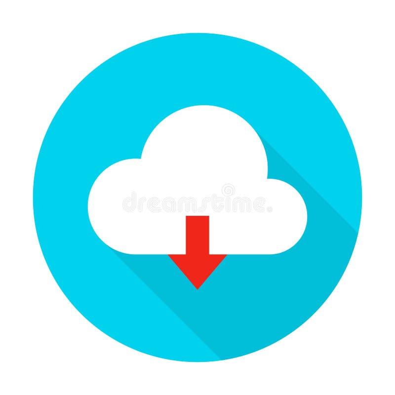 云彩加载平的圈子象 库存例证