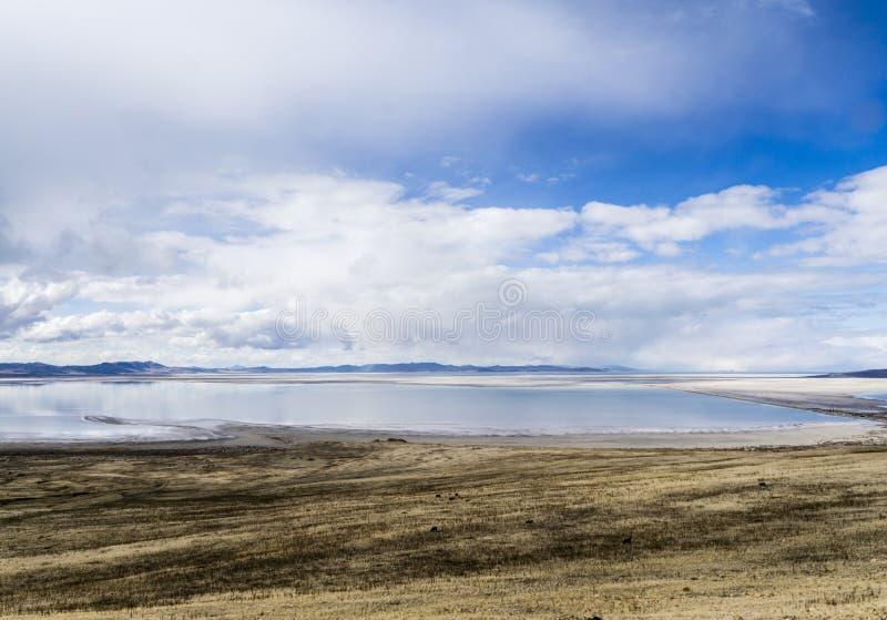 云彩和大盐湖 免版税库存图片