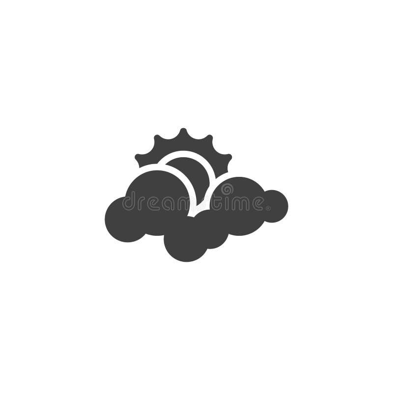 云彩和太阳传染媒介象 皇族释放例证