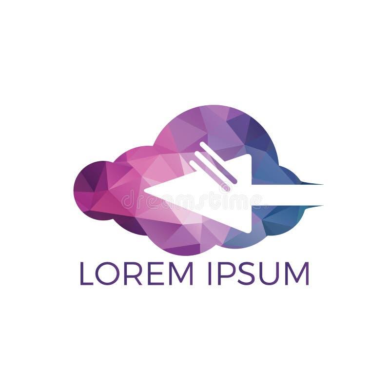 云彩和游标网上商标设计 向量例证