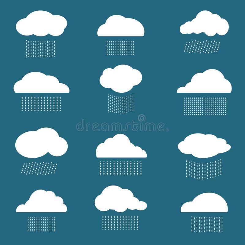 云彩和雨的传染媒介图象 向量例证