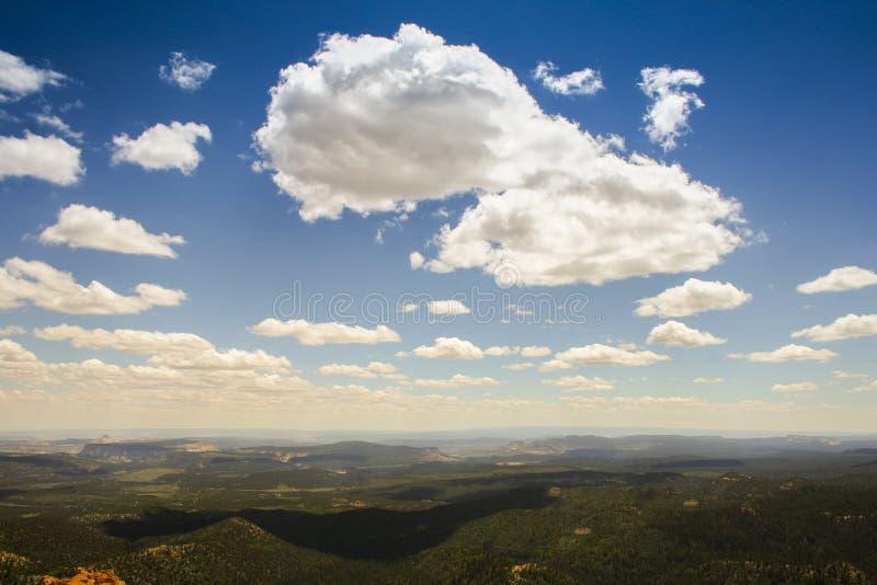 云彩和阴影 库存图片