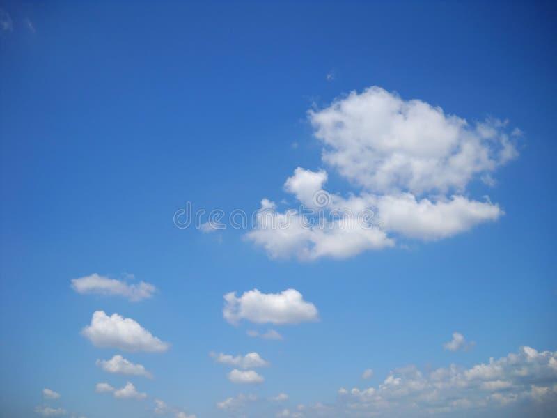 云彩品种从最小的到最大 免版税库存照片