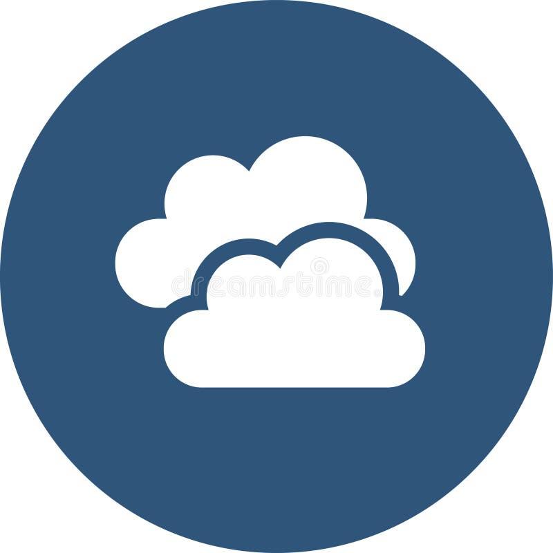 云彩图标雨星期日天气 天气象征 与天气符号的圆的象和月相 向量例证