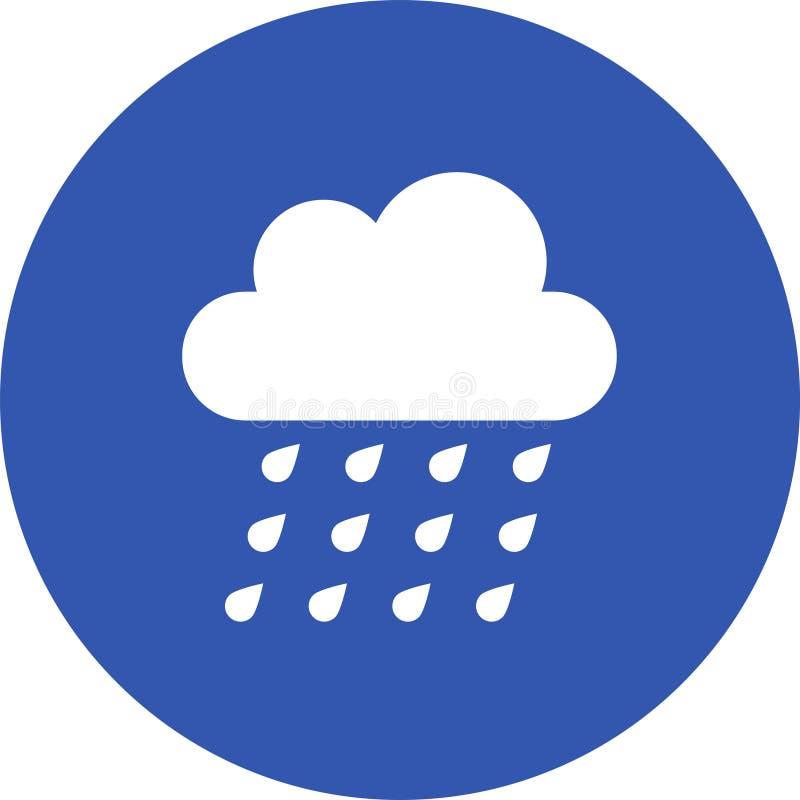 云彩图标雨星期日天气 天气象征 与天气符号的圆的象和月相 皇族释放例证