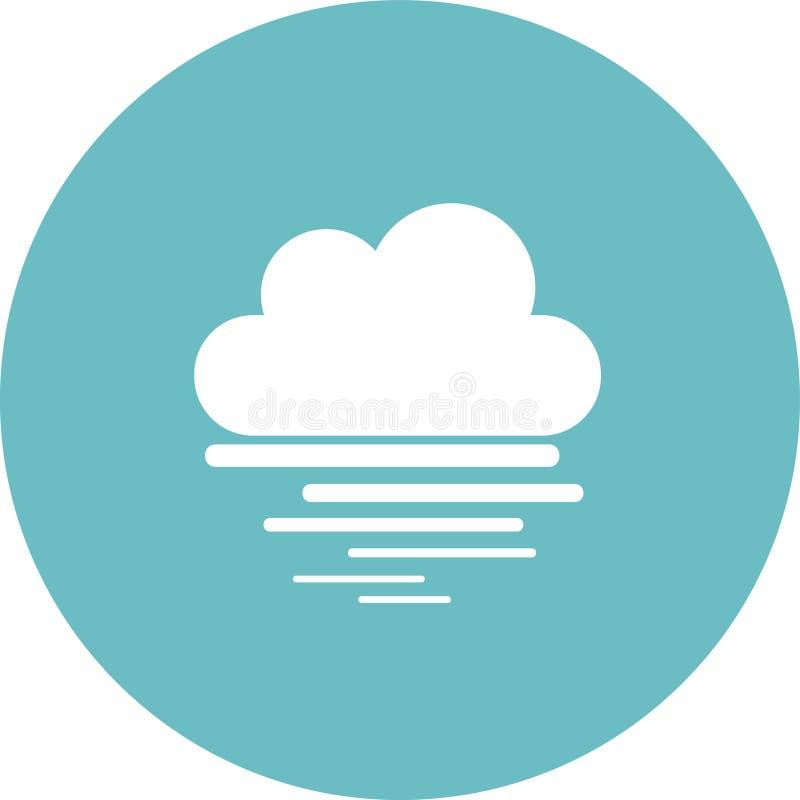 云彩图标雨星期日天气 天气象征 与天气符号的圆的象和月相 库存例证