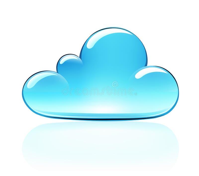 云彩图标 向量例证