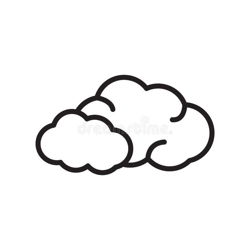 云彩在白色背景隔绝的象传染媒介,云彩签字,l 皇族释放例证