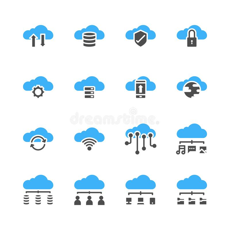 云彩在纵的沟纹设计设置的技术象 r 库存例证