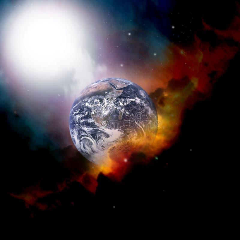 云彩地球天气 向量例证