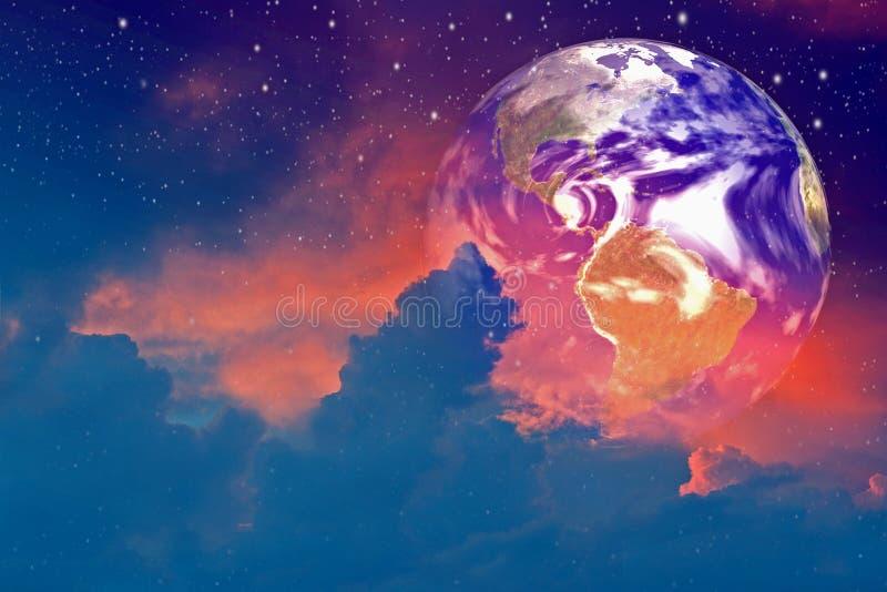 云彩地球 库存图片