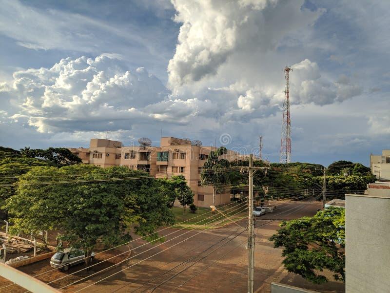 云彩天在多拉杜斯,巴西 库存图片