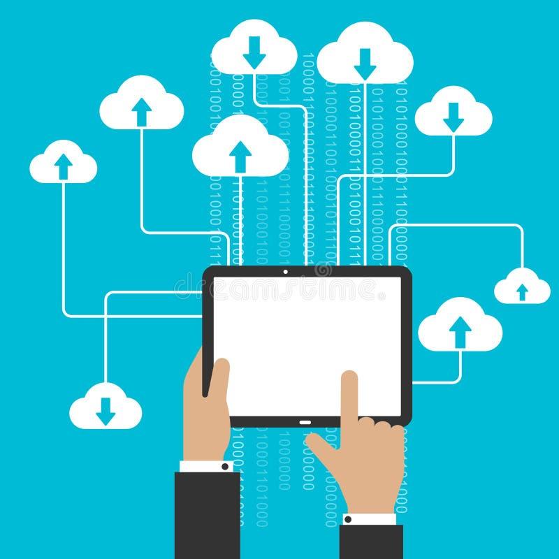 云彩存贮服务和计算概念 向量例证