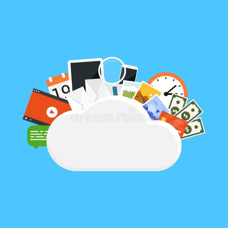 云彩存贮概念 库存例证