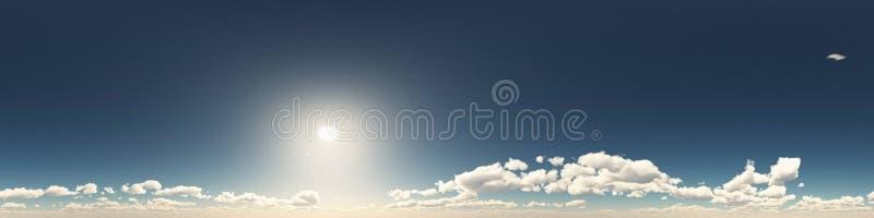 360云彩度无缝的全景  向量例证