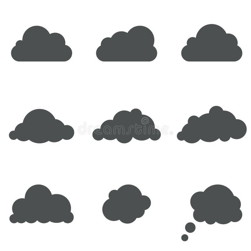 云彩形状 库存例证