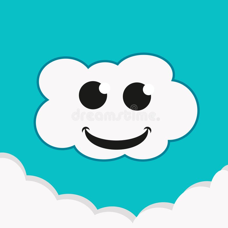 云彩微笑 向量例证