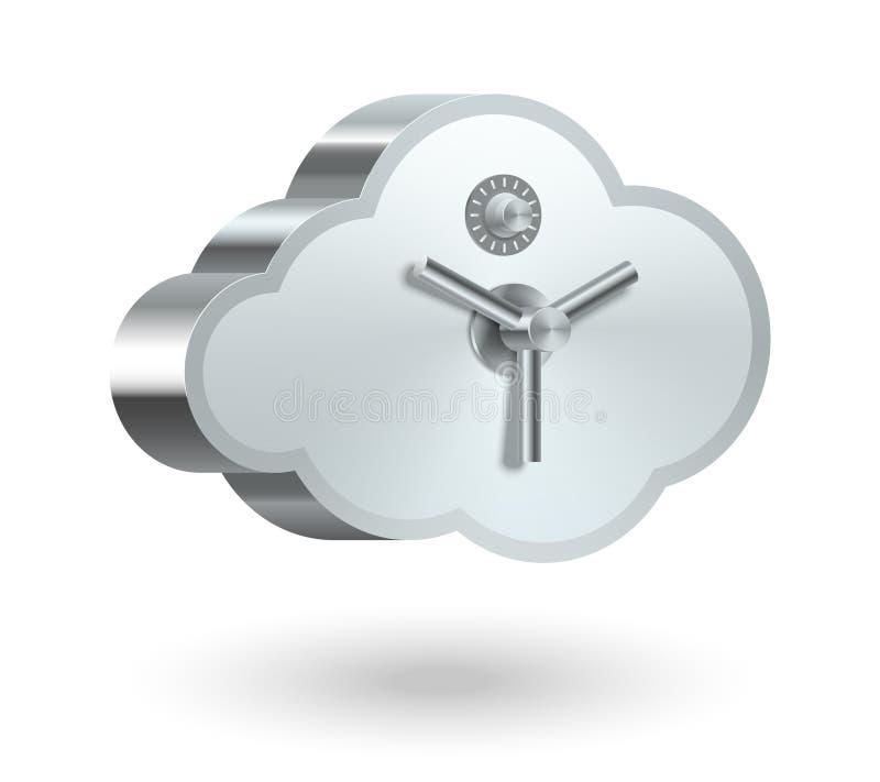 云彩技术安全 向量例证