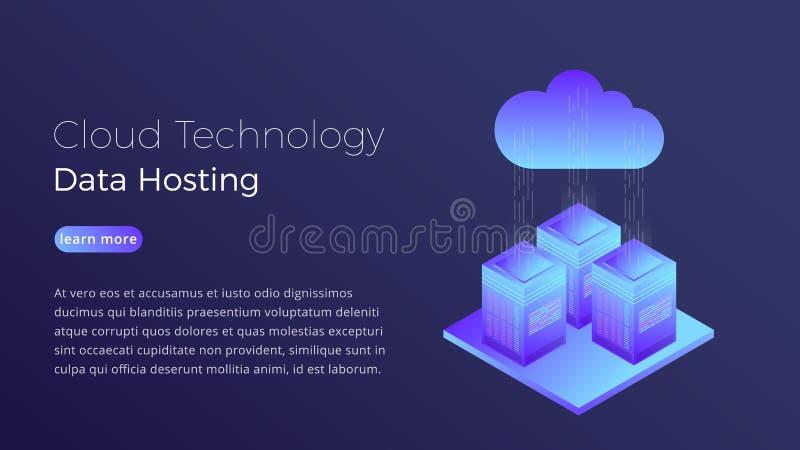 云彩技术 主持云彩服务器等量概念的数据 主持英雄图象设计的现代云彩 皇族释放例证