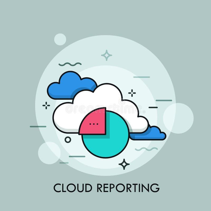 云彩报告的概念,对经营活动的远程存取 向量例证