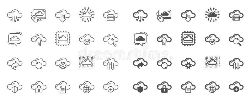 云彩数据和技术线象 设置主持的,计算的数据和文件存储 ?? 皇族释放例证