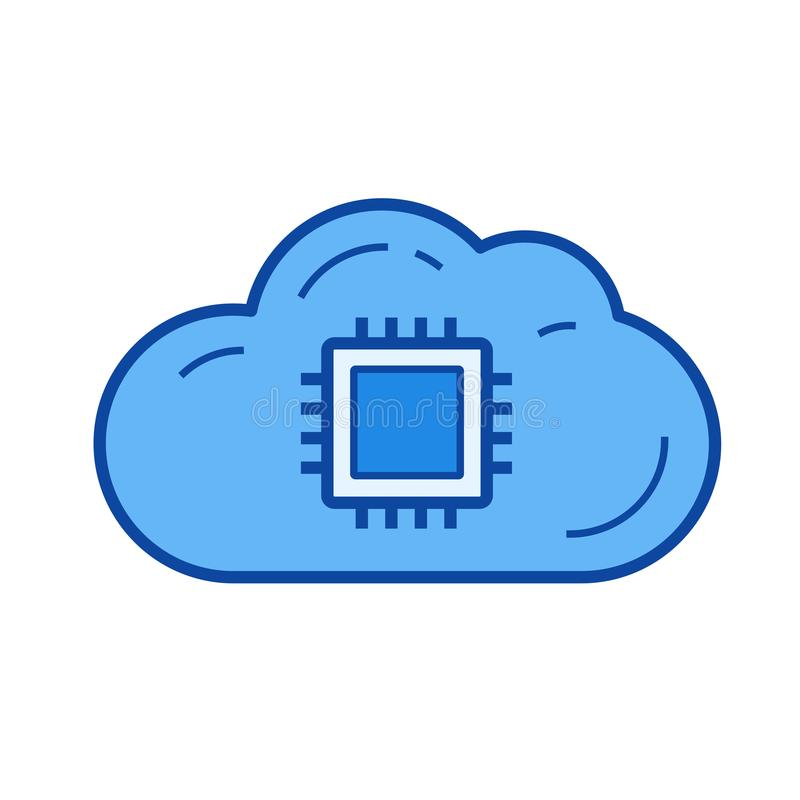 云彩数据存储线象 向量例证