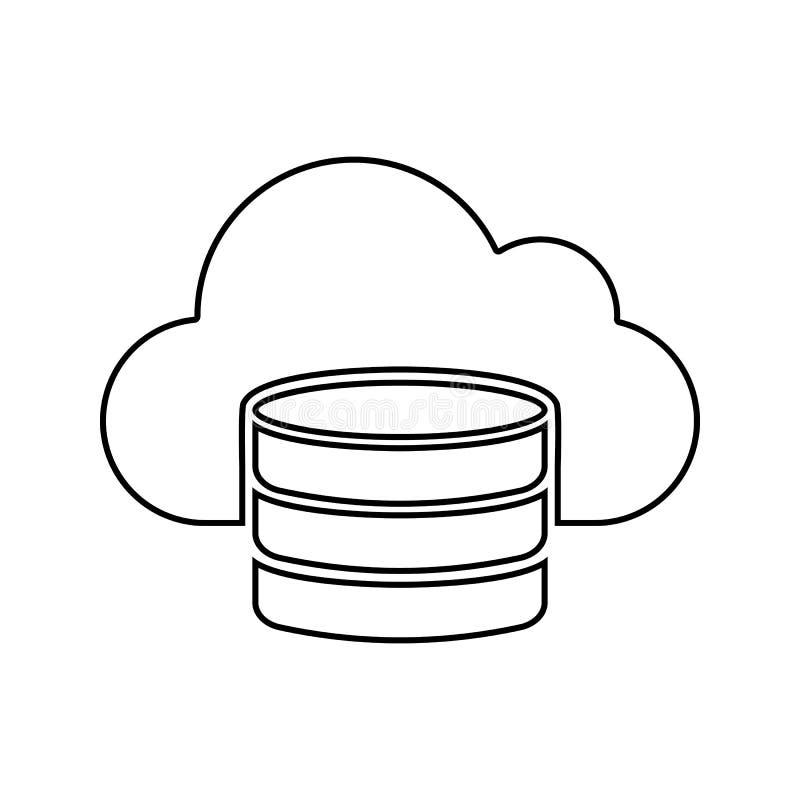 云彩数据库象 网络安全的元素流动概念和网应用程序象的 网站设计的稀薄的线象和 皇族释放例证