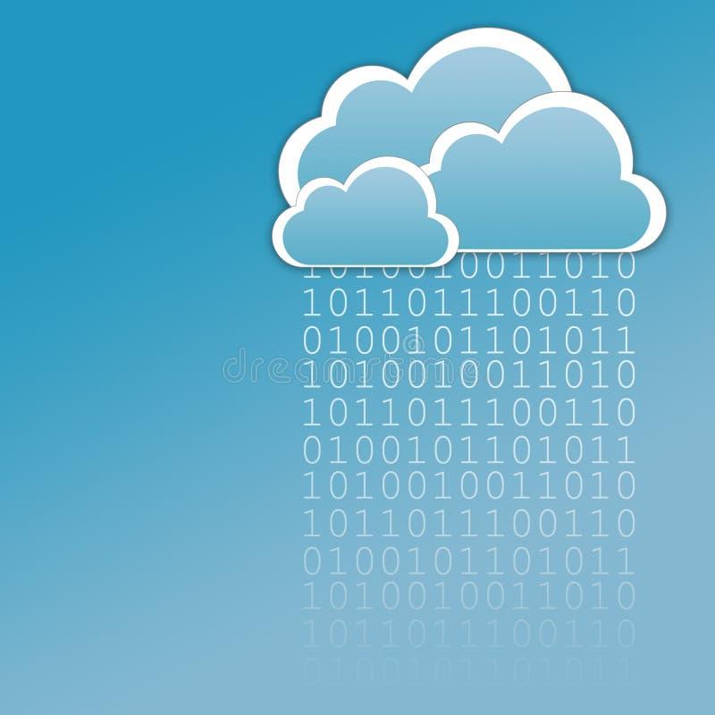 云彩数据 库存例证
