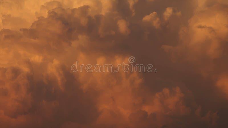 云彩日落天空纹理 图库摄影