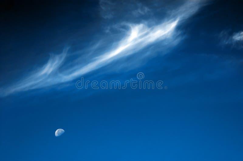 云彩月亮银 库存照片