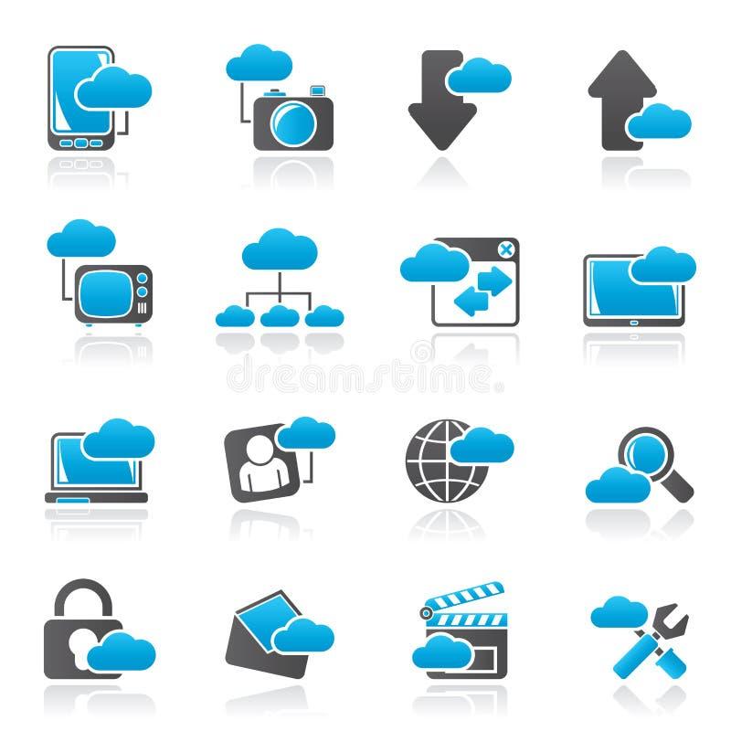 云彩服务和对象象 向量例证