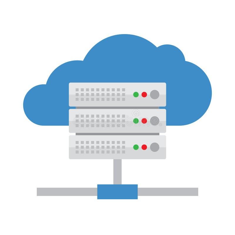 云彩服务器传染媒介象 向量例证