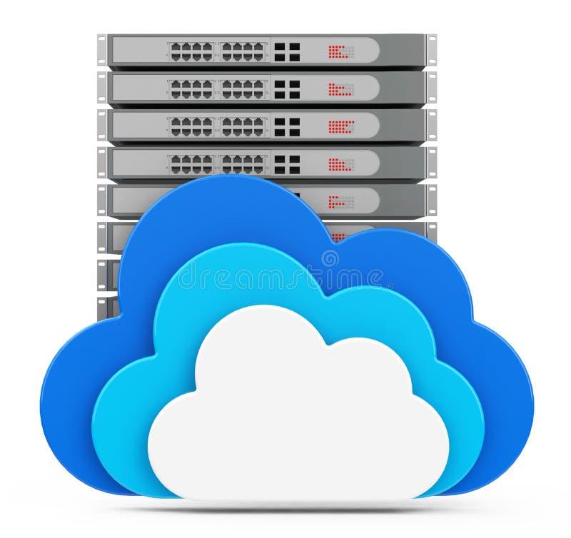 云彩服务器 库存例证