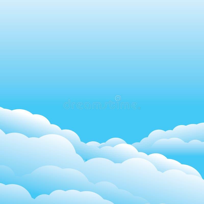 云彩模板传染媒介 向量例证