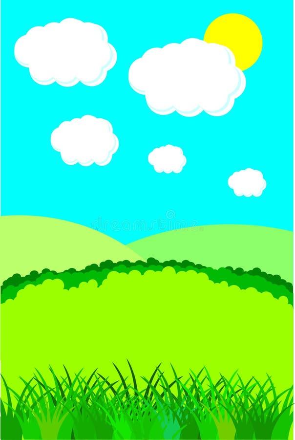 云彩横向夏天 库存例证