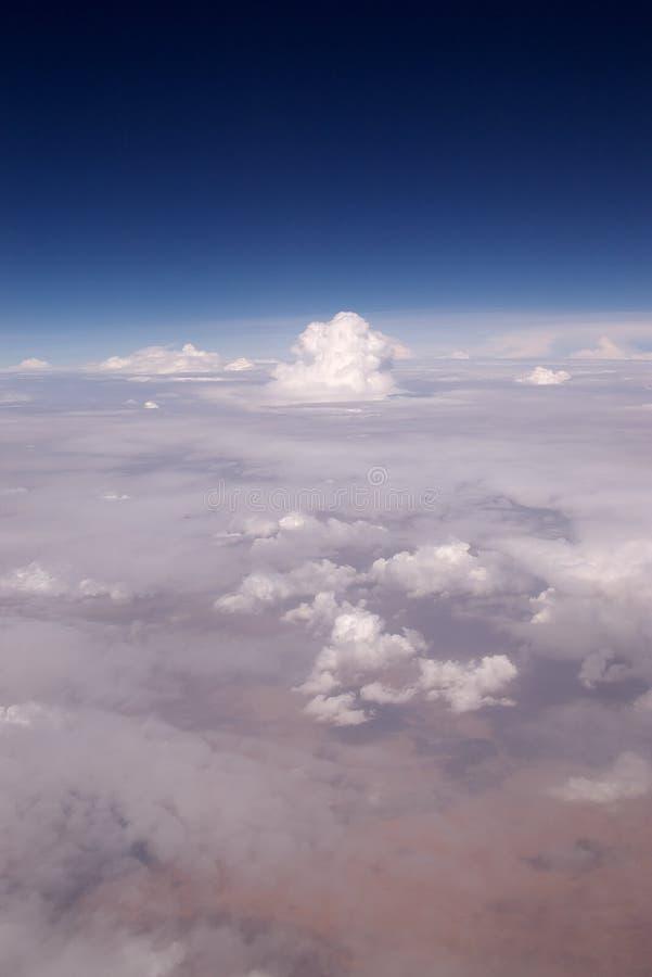 云彩沙漠 免版税库存照片
