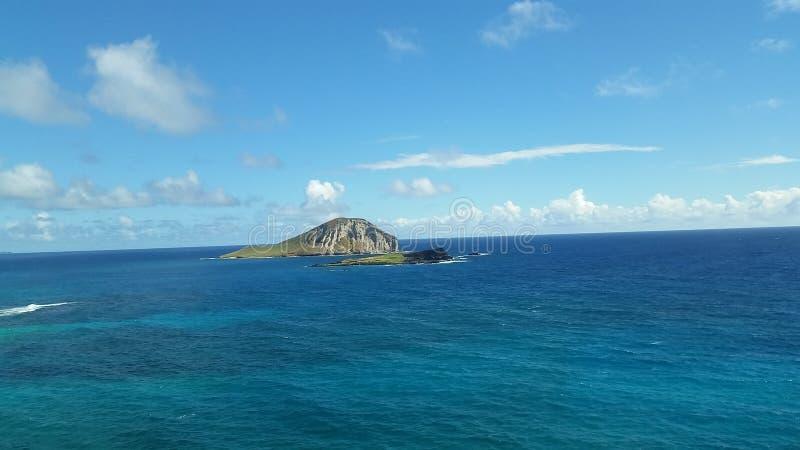 云彩海洋天空视图水 库存图片