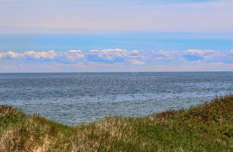 云彩海洋天空视图水 图库摄影