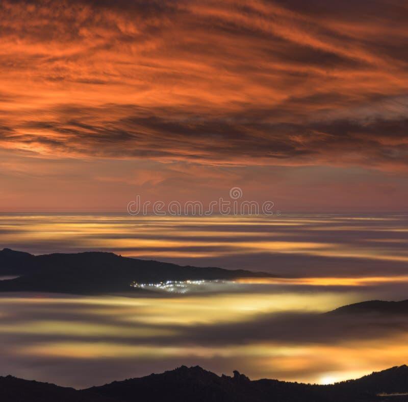 云彩海  图库摄影