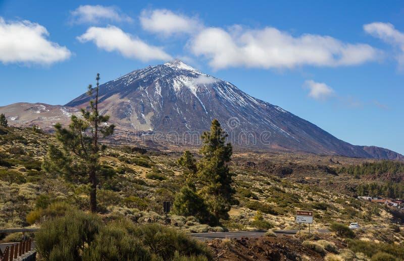 云彩火山El泰德峰特内里费岛加那利群岛西班牙 免版税库存照片