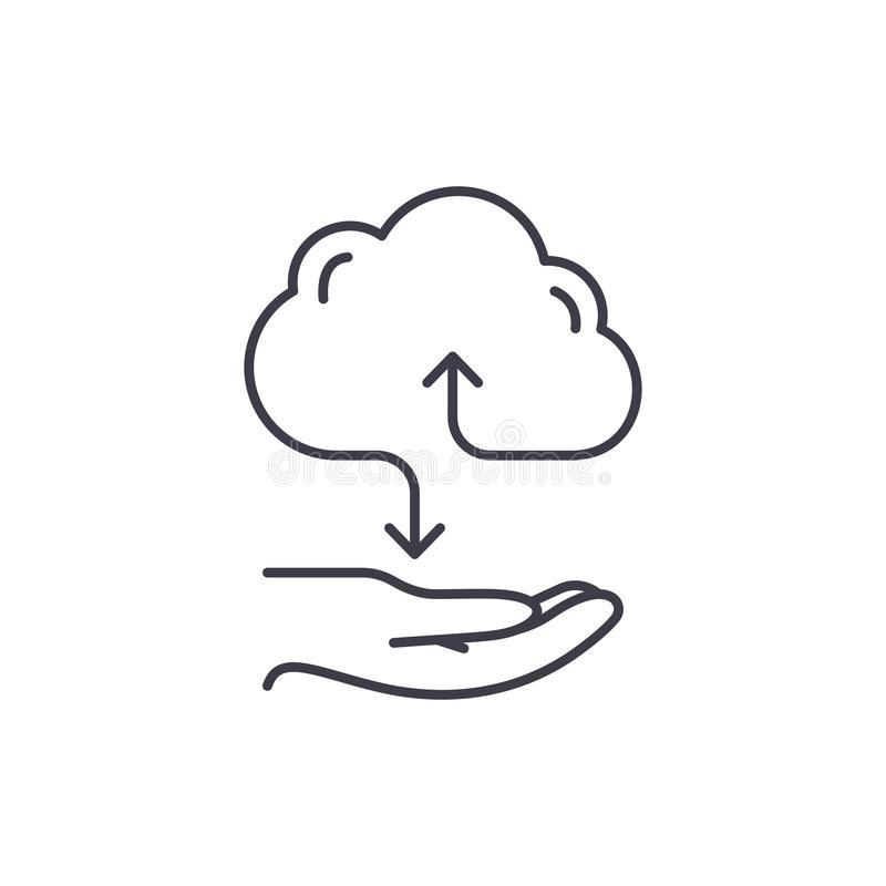 云彩用户线路象概念 云彩服务导航线性例证,标志,标志 库存例证