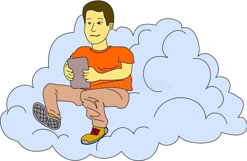 云彩的互联网 向量例证