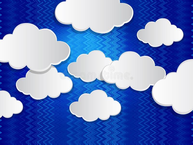 以云彩的形式抽象讲话泡影 库存例证