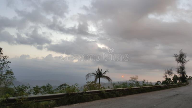 云彩的海地 库存图片
