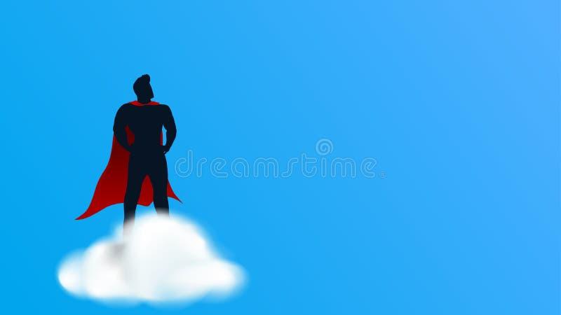 云彩的特级英雄 库存例证
