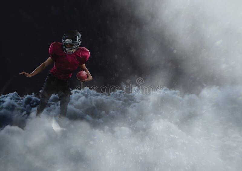 云彩的美国橄榄球运动员 皇族释放例证