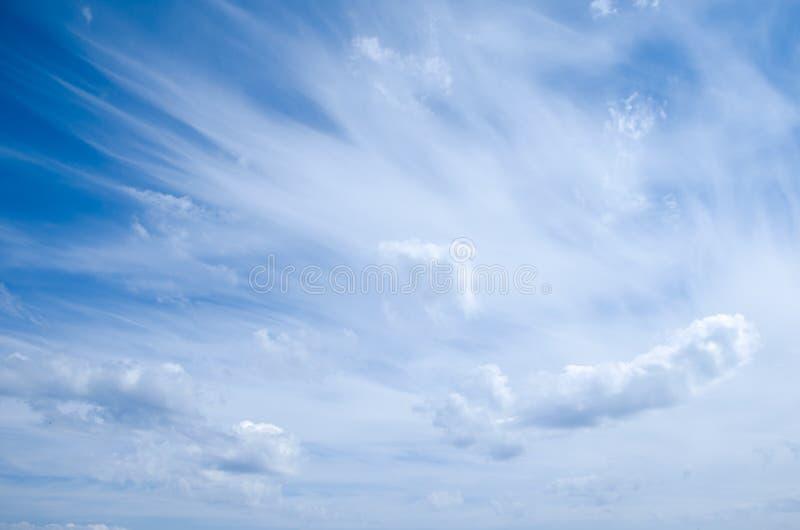 云彩的运动在天空的 图库摄影