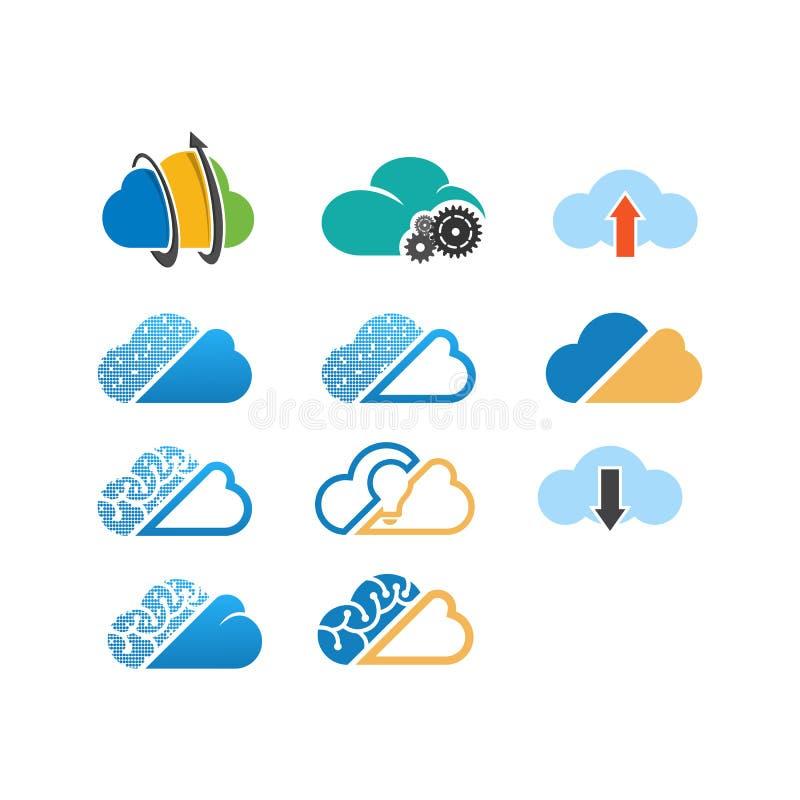 云彩管理系统商标设计传染媒介 向量例证