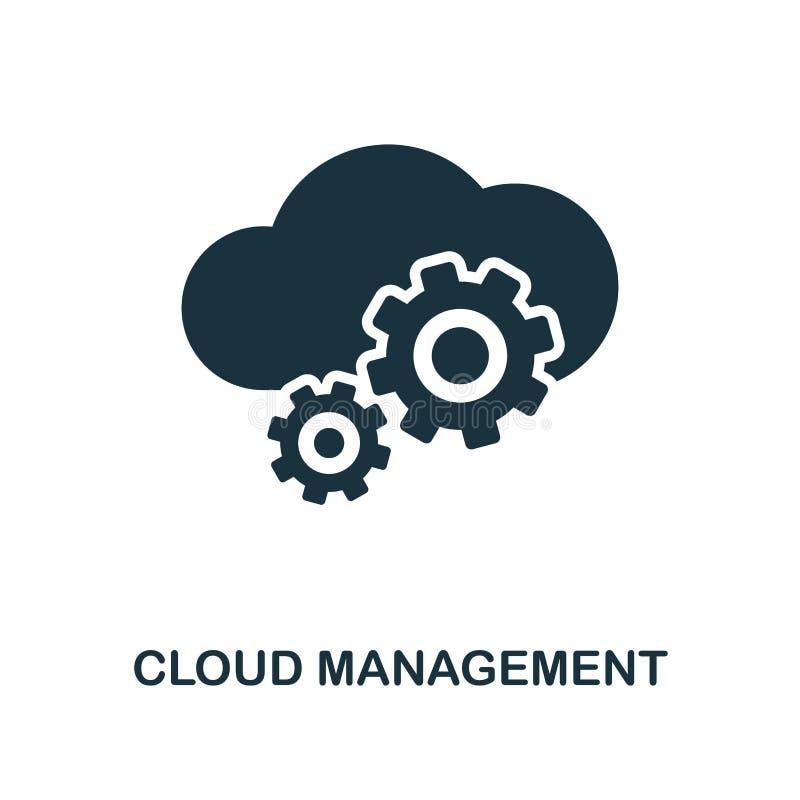云彩管理象 从大数据象收藏的单色样式设计 Ui 映象点完善的简单的图表云彩管理 向量例证