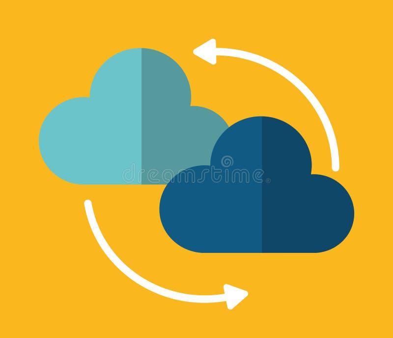 云彩箭头数据中心网络主持 背景装饰图象风格化漩涡向量挥动 皇族释放例证